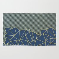 Ab Lines 45 Navy and Gold Rug