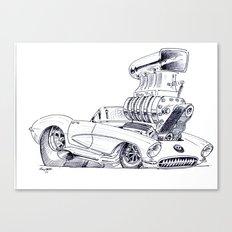 Blown Vette Canvas Print