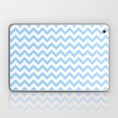funky chevron blue pattern Laptop & iPad Skin