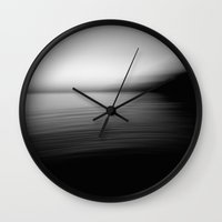 Flow (B&W) Wall Clock
