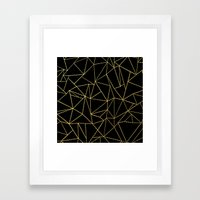 Ab Dotted Gold Framed Art Print