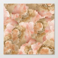 Gold in the clouds Canvas Print