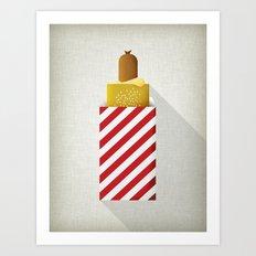 French Hotdog Art Print
