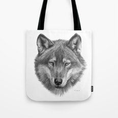 Wolf face G084 Tote Bag