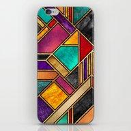 Colorful City Night iPhone & iPod Skin