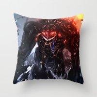 Shadow Titan Throw Pillow