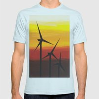 Two Windmills Mens Fitted Tee Light Blue SMALL