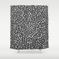 staklo (grays) Shower Curtain