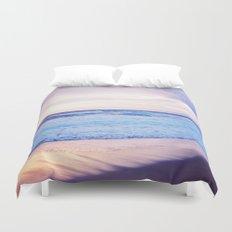 Purple Sunset over Hermosa Beach, Los Angeles  Duvet Cover