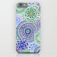 iPhone & iPod Case featuring Tossed Mandalas by Janet Broxon