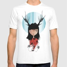Fauna White SMALL Mens Fitted Tee