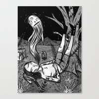 BOY WHO WHISTLES IN HIS SLEEP Canvas Print