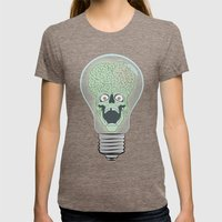 Think Martian  Womens Fitted Tee Tri-Coffee SMALL