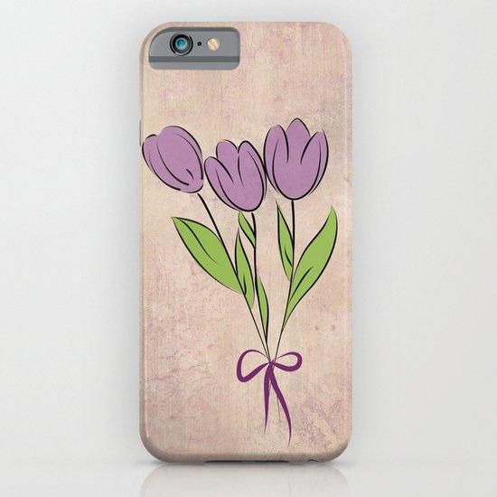 Purple Tulips iPhone & iPod Case