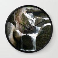 Rocky water fall Wall Clock