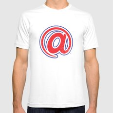 At Lanta White Mens Fitted Tee SMALL