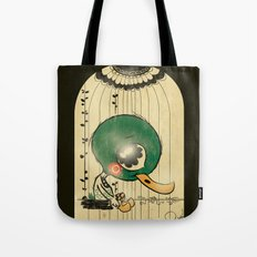 Chinese Idiom: Sitting Duck 插翅难飞  Tote Bag