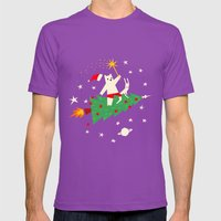 Space Christmas Mens Fitted Tee Ultraviolet SMALL