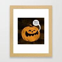 Pumpkin Season Framed Art Print