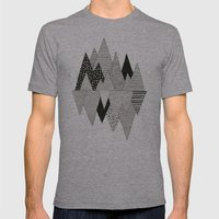 Lost In Mountains Mens Fitted Tee Athletic Grey SMALL