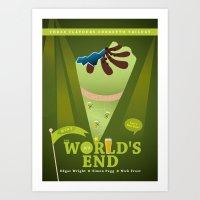 The World´s End Art Print