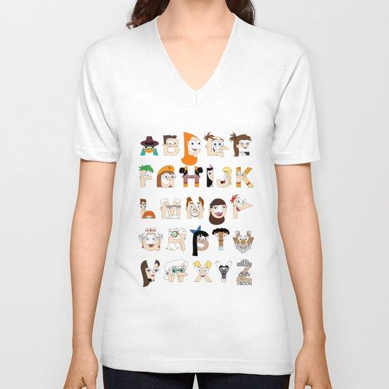 P&F Alphabet V-neck T-shirt