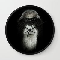 Debrazza's Monkey  Wall Clock