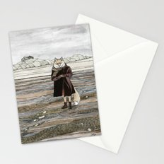 Fox in Sand Dunes Stationery Cards