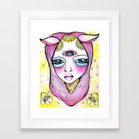 Mildred Was Stuck Betwee… Framed Art Print