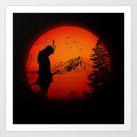 My Love Japan / Samurai … Art Print