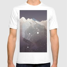 Cosmic Cat SMALL White Mens Fitted Tee