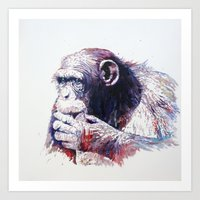 monkey Art Prints featuring Monkey by Cristian Blanxer