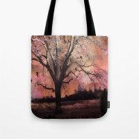 Surreal Trees Ravens Lan… Tote Bag