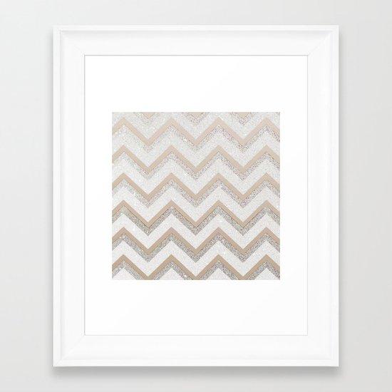 NUDE CHEVRON Framed Art Print