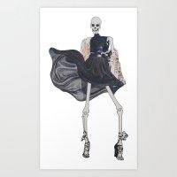 Skeleton In Leather & Fu… Art Print