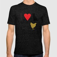 I Heart Cats Mens Fitted Tee Tri-Black SMALL