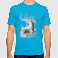 Sky  Mens Fitted Tee Teal SMALL