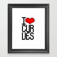 I Heart Curves Framed Art Print
