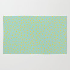 Yellow Pit on Mint /// www.pencilmeinstationery.com Rug