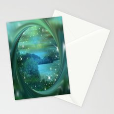 Starlit Lake. Stationery Cards