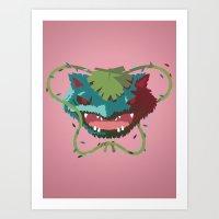 Rustling Venusaur Art Print