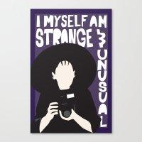 Strange and Unusual Canvas Print
