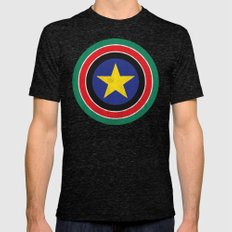 Captain South Sudan Mens Fitted Tee Tri-Black SMALL