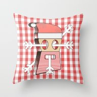 Let's Invite Santa For C… Throw Pillow