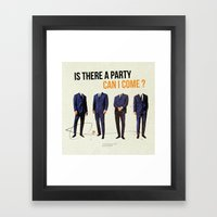 Is There a Party Can I Come | Collage Framed Art Print