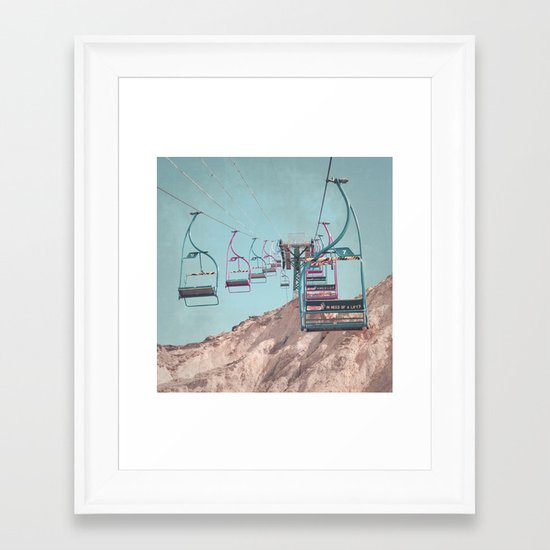 into the sky... Framed Art Print