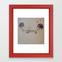 Clothes line |2 Framed Art Print