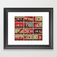 Mixed Tapes Framed Art Print