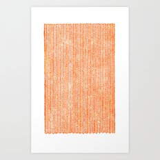 Stockinette Orange Art Print