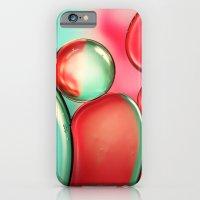 Oil Drops In Blush & Blu… iPhone 6 Slim Case